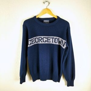 Vtg Georgetown University College Knit Sweater Top